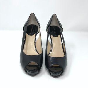 Marc Fisher Shoes - Marc Fisher Bross Pump Black Heels Peep Toe 6.5
